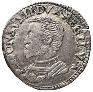 Reggio Emilia. Alfonso II d'Este (1559-1597). Cavallotto AG gr. 2,83. Ravegnani Morosini 25. MIR 1344/1. Lieve frattura del tondello, q.SPL