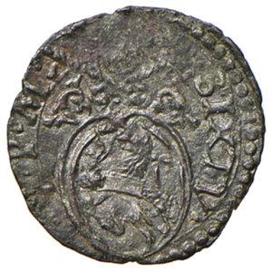 obverse: Ancona. Sisto V (1585-1590). Quattrino MI gr. 0,67. Muntoni 86 var. Berman 1355. Dubbini-Mancinelli pag. 173 (1° tipo). MIR 1346/1. Raro. q.SPL