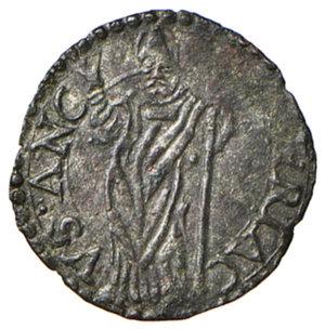 reverse: Ancona. Sisto V (1585-1590). Quattrino MI gr. 0,67. Muntoni 86 var. Berman 1355. Dubbini-Mancinelli pag. 173 (1° tipo). MIR 1346/1. Raro. q.SPL