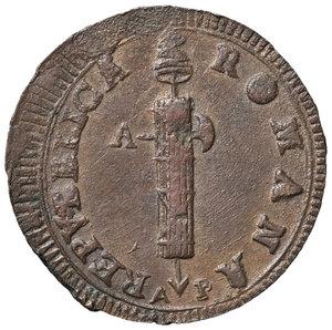 obverse: Ancona. Repubblica romana (1798-1799). Da 2 baiocchi CU gr. 17,95. Muntoni 24. Bruni 4. Dubbini-Mancinelli pag. 208/209. q.SPL