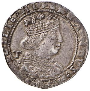 obverse: (L ) Aquila. Ferdinando I d'Aragona (1458-1494). Coronato AG gr. 3,95. MEC14, 1011 var. D.A. 83. MIR 89. Vall-Llosera i Tarres 147c. Raro. BB