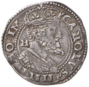 obverse: (L ) Aquila. Carlo V d'Asburgo (1519-1556). Carlino AG gr. 3,10. D.A. 151. MIR 120 (questo esemplare illustrato). Migliore di BB