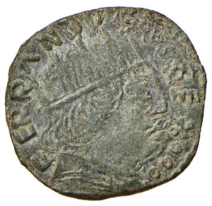 obverse: Amatrice. Ferdinando I d'Aragona (1458-1494). Cavallo AE gr. 1,73. CNI 7. D.A. 5. MIR 42. Vall-Llosera i Tarres 197. Molto raro. Conservazione da ritenersi eccezionale per il tipo di moneta, SPL