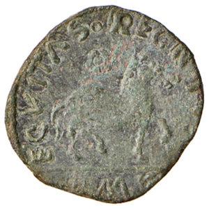 reverse: Amatrice. Ferdinando I d'Aragona (1458-1494). Cavallo AE gr. 1,73. CNI 7. D.A. 5. MIR 42. Vall-Llosera i Tarres 197. Molto raro. Conservazione da ritenersi eccezionale per il tipo di moneta, SPL