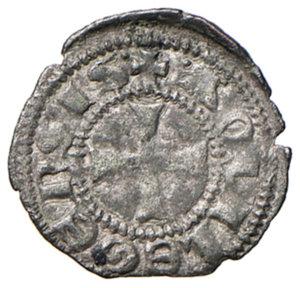 reverse: Aquileia. Bertrando di San Genesio (1334-1350). Piccolo MI gr. 0,46. Bernardi 50. MEC12, –. Molto raro. BB