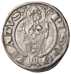 reverse: Arezzo. Guido Tarlati di Pietramala vescovo (1313-1326). Grosso agontano AG gr. 2,27. CNI 3. MIR 11 (Guglielmo Ubertini vescovo, 1267-1289). Molto raro. Tondello di ampio modulo, q.SPL