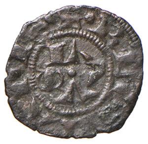 obverse: Ascoli. Ladislao di Durazzo (1404-1414). Picciolo MI gr. 0,40. CNI 3. Mazza 38. Molto raro. Buon BB