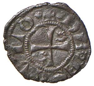 reverse: Ascoli. Ladislao di Durazzo (1404-1414). Picciolo MI gr. 0,40. CNI 3. Mazza 38. Molto raro. Buon BB