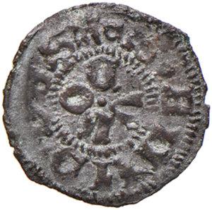 reverse: Ascoli. Eugenio IV (1431-1447). Picciolo MI gr. 0,51. Muntoni 26 var. I. Mazza 92. Berman 311. MIR 313/2. Rarissimo. Con cartellino di antica collezione. BB