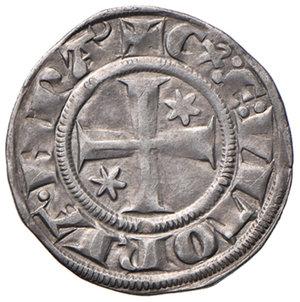 Volterra. Ranieri de'Ricci vescovo (1291-1301). Grosso agontano da 20 denari AG gr. 1,71. CNI 1. MIR 613. Raro. Migliore di BB