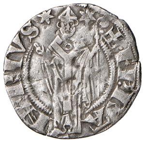 obverse: Berignone. Ranieri III Belforti vescovo di Volterra (1301-1321). Grosso agontano da 20 denari AG gr. 1,25. CNI 1. MIR 25. Rarissimo. Colpetti e segnetti nei campi, altrimenti BB