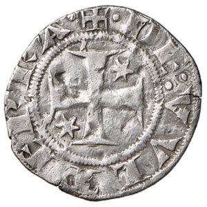 reverse: Berignone. Ranieri III Belforti vescovo di Volterra (1301-1321). Grosso agontano da 20 denari AG gr. 1,25. CNI 1. MIR 25. Rarissimo. Colpetti e segnetti nei campi, altrimenti BB