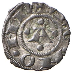 reverse: Bologna. Comune. Emissioni a nome di Enrico VI (1191-1337). Bolognino piccolo MI gr. 0,44. Chimienti 8. Raro. Più di BB