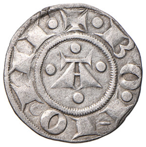 reverse: Bologna. Comune. Emissioni a nome di Enrico VI (1191-1337). Bolognino AG gr. 1,40. Chimienti 22. Buon BB