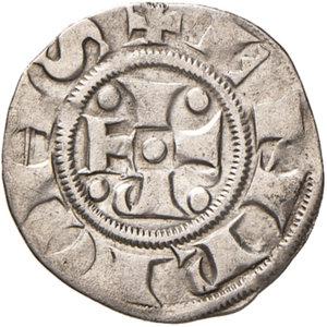 obverse: Bologna. Comune. Emissioni a nome di Enrico VI (1191-1337). Bolognino AG gr. 1,38. Chimienti 25 (stella a 8 punte di I tipo). Rarissimo. Buon BB