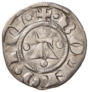 reverse: Bologna. Comune. Emissioni a nome di Enrico VI (1191-1337). Bolognino AG gr. 1,38. Chimienti 25 (stella a 8 punte di I tipo). Rarissimo. Buon BB