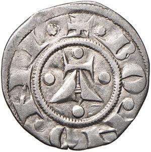 reverse: Bologna. Comune. Emissioni a nome di Enrico VI (1191-1337). Bolognino AG gr. 1,37. Chimienti 33 (stella a 5 o 6 punti di IV tipo). Molto raro. Migliore di BB