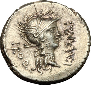 L. Manlius Torquatus.. AR Denarius, 82 BC