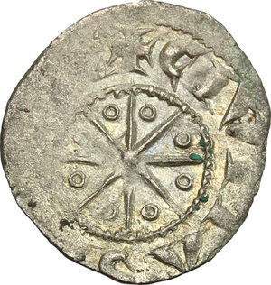 reverse: Tripoli.  Bohemond V (1233-1251).. BI Denier with six pointed star