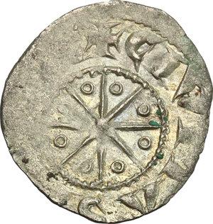 R/ Tripoli. Bohemond V (1233-1251). BI Denier with six pointed star.  D/ Cross pattèe, three pellets in the second angle. R/ Eight pointed star, annulets between rays. Schl. pl. IV, 17. Malloy 19. BI. g. 0.61  mm. 16.00    VF.