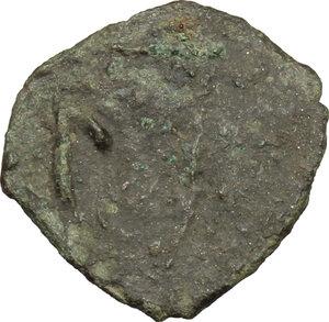 reverse: Vicina (?).  Genoese colony.. AE Pul, c. 710-711 AH/1310-1311 AD