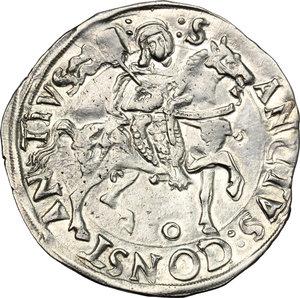 reverse: Carmagnola.  Michele Antonio di Saluzzo (1504-1528).. Cornuto