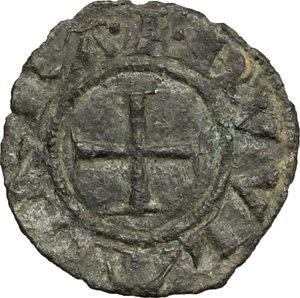 obverse: Casole.  Ranuccio Allegretti (1321-1348), Vescovo di Volterra. Denaro piccolo