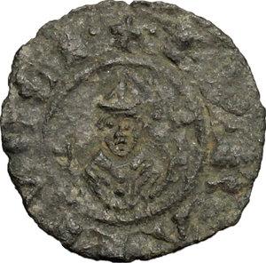 reverse: Casole.  Ranuccio Allegretti (1321-1348), Vescovo di Volterra. Denaro piccolo