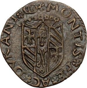 reverse: Casteldurante.  Guidobaldo I di Montefeltro (1482-1508). Quattrino