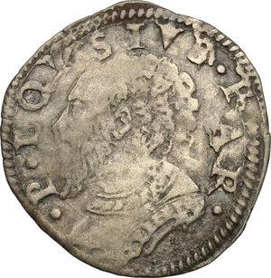 obverse: Castro.  Pierluigi Farnese (1545-1547). Mezzo grosso