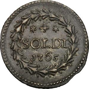 reverse: Corte (Corsica).  Pasquale Paoli (1762-1768), Generale. 4 soldi 1765