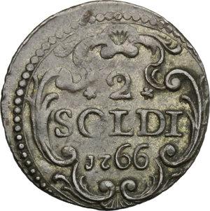 reverse: Corte (Corsica).  Pasquale Paoli (1762-1768), Generale. 2 soldi 1766