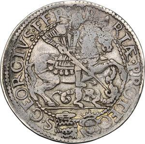 reverse: Ferrara.  Paolo V (1605-1621). Testone 1620
