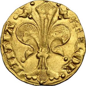 obverse: Firenze.  Repubblica (sec. XIII-1532).. Fiorino d oro stretto, IV o V serie, 1252-1310, maestro di zecca sconosciuto