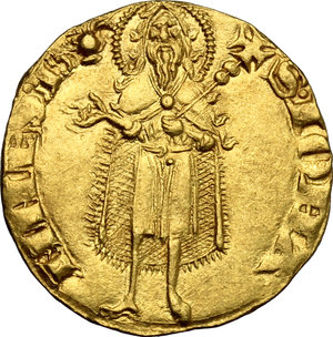 reverse: Firenze.  Repubblica (sec. XIII-1532).. Fiorino d oro stretto, IV o V serie, 1252-1310, maestro di zecca sconosciuto