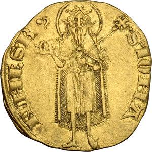 reverse: Firenze.  Repubblica (sec. XIII-1532).. Fiorino d oro stretto, IV serie, 1267-1303, maestro di zecca sconosciuto