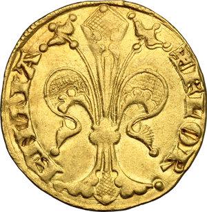 obverse: Firenze.  Repubblica (sec. XIII-1532).. Fiorino d oro stretto, V serie, 1307 I semestre, Nigio di Dietisalvi maestro di zecca