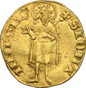 reverse: Firenze.  Repubblica (sec. XIII-1532).. Fiorino d oro stretto, V serie, 1307 I semestre, Nigio di Dietisalvi maestro di zecca