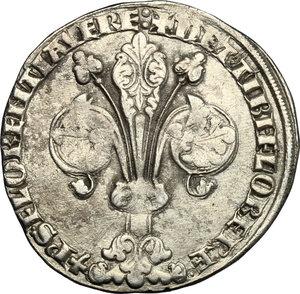 obverse: Firenze.  Repubblica (sec. XIII-1532).. Guelfo da 4 soldi, II serie, 1345-1346