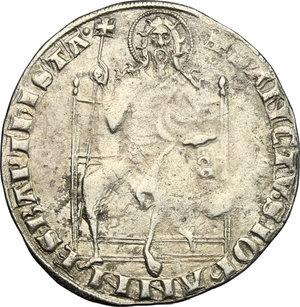 reverse: Firenze.  Repubblica (sec. XIII-1532).. Guelfo da 4 soldi, II serie, 1345-1346