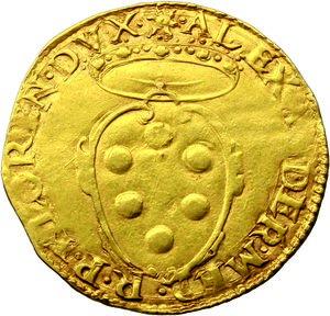 obverse: Firenze.  Alessandro de  Medici (1532-1537).. Scudo d oro