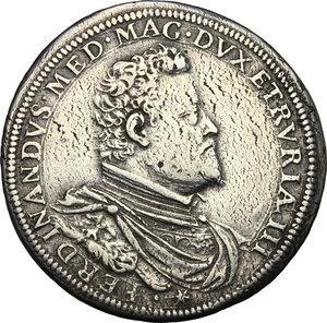 obverse: Firenze.  Ferdinando I de  Medici (1587-1609). Piastra 1601