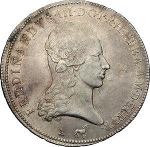 obverse: Firenze.  Ferdinando III di Lorena (1790-1824).. Francescone 1794