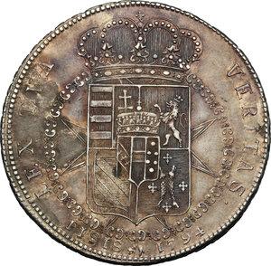 reverse: Firenze.  Ferdinando III di Lorena (1790-1824).. Francescone 1794