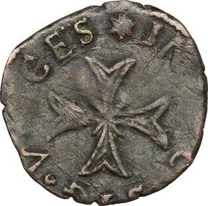 reverse: Frinco.  Anonime Consortili (1581-1601).. Liard di Navarra
