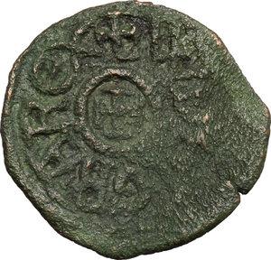 obverse: Gaeta.  Guglielmo I (1154-1166) o Guglielmo II (1166-1189). Follaro