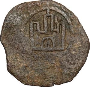 reverse: Gaeta.  Tancredi (1189-1194).. Follaro con contromarca con rosetta