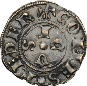 reverse: Gubbio.  Federico di Montefeltro (1444-1482). Bolognino