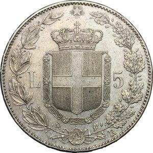 Umberto I (1878-1900).. 5 lire 1879