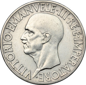 obverse: Vittorio Emanuele III (1900-1943). 20 lire 1936